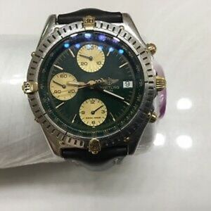 SOLD@! Breitling 1884 chro B13050 polo green dial